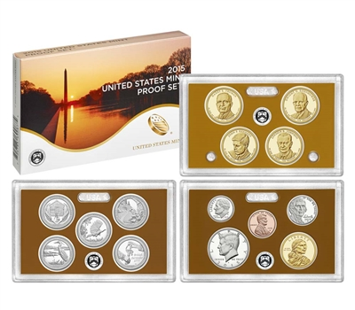 2015 U.S. Mint Clad Proof Set in OGP with CoA