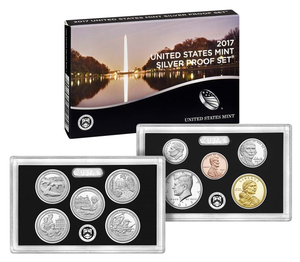 COA 10 COINS BOX 2004 US MINT SILVER PROOF SET