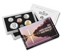 2021 U.S. Mint 7 Coin Silver Proof Set - OGP box & COA