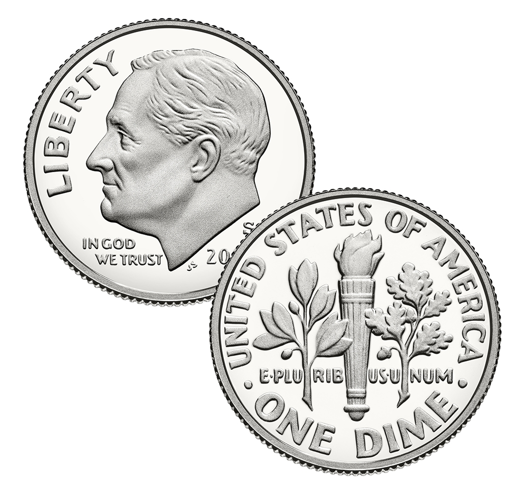 2014 S Proof Cent Nickel Dime 3 Coin Set