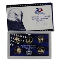 2000 - S Clad Proof State Quarter 5-pc. Set With Box/ COA
