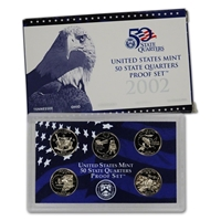 2002 - S Clad Proof State Quarter 5-pc. Set With Box/ COA