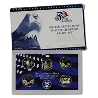 2003 - S Clad Proof State Quarter 5-pc. Set With Box/ COA