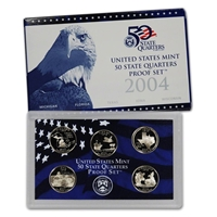 2004 - S Clad Proof State Quarter 5-pc. Set With Box/ COA