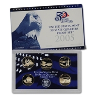 2005 - S Clad Proof State Quarter 5-pc. Set With Box/ COA
