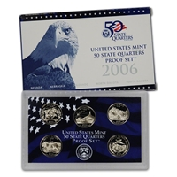2006 - S Clad Proof State Quarter 5-pc. Set With Box/ COA