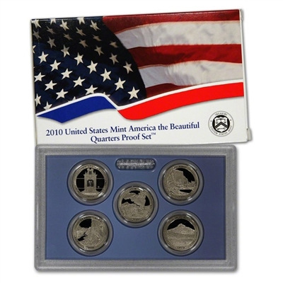 2010 - S Clad Proof National Park Quarter 5-pc. Set With Box/ COA