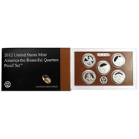 2012 - S Clad Proof National Park Quarter 5-pc. Set With Box/ COA