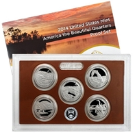 2014 - S Clad Proof National Park Quarter 5-pc. Set With Box/ COA