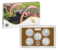 2015 - S Clad Proof National Park Quarter 5-pc. Set With Box/ COA
