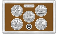 2018 - S Clad Proof National Park Quarter 5-pc Set No Box or CoA