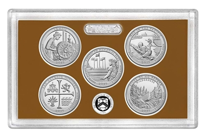 2019 - S Clad Proof National Park Quarter 5-pc Set No Box or CoA
