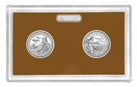 2021 - S Clad Proof National Park Quarter 2-pc Set No Box or CoA