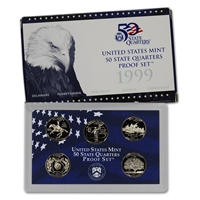1999 - 2009 Clad Proof State and Territory Quarters Complete Set
