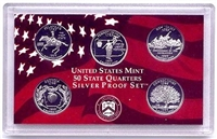 1999 - S Silver Proof State Quarter 5-pc. Set With No Box or CoA