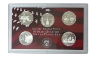 2000 - S Silver Proof State Quarter 5-pc. Set No Box or CoA