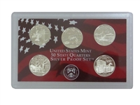 2001 - S Silver Proof State Quarter 5-pc. Set No Box or CoA