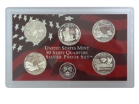 2003 - S Silver Proof State Quarter 5-pc. Set No Box or CoA