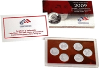 2009 - S Silver Proof Territory Quarter 6-pc. Set With Box/ COA
