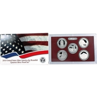 2010 - S Silver Proof National Park Quarter 5-pc. Set With Box/ COA
