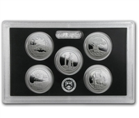 2013 - S Silver Proof National Park Quarter 5-pc. Set With Box/ COA