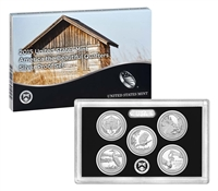 2015 - S Silver Proof National Park Quarter 5-pc. Set With Box/ COA