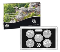2016 - S Silver Proof National Park Quarter 5-pc. Set With Box/ COA
