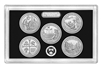 2019 - S 99.9% Silver Proof National Park Quarter 5-pc. Set No Box or CoA