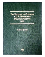 Complete 12-coin 2009 P&D Set of D.C. & Territory Quarters in a Littleton Folder