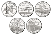 2001 P and D BU State Quarter 10 Coin Set