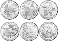 2009 P and D BU Territory Quarter 12 Coin Set