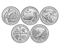 2019 P and D BU National Park Quarter 10 Coin Set