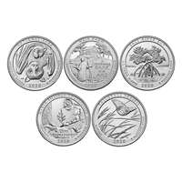 2020 - 2021 P and D BU National Park Quarter 12 Coin Set