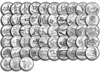 Complete 1999 thru 2009 P&D 112-coin B.U. State Quarter Set