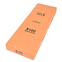 Guardhouse Orange $100 Quarter Box - Holds 10 Rolls
