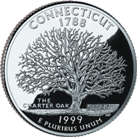 1999 - P Connecticut State Quarter