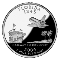 2004 - D Florida - Roll of 40 State Quarters