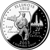 2003 - P Illinois State Quarter