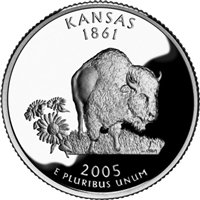 2005 - D Kansas - Roll of 40 State Quarters