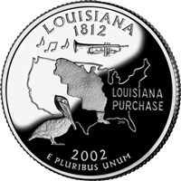 2002 - D Louisiana - Roll of 40 State Quarters