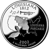 2002 - P Louisiana State Quarter