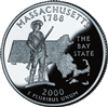 2000 - D Massachusetts State Quarter