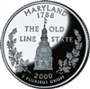 2000 - D Maryland State Quarter
