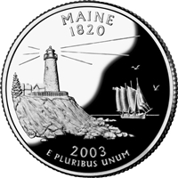 2003 - D Maine - Roll of 40 State Quarters