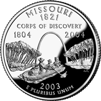 2003 - D Missouri - Roll of 40 State Quarters