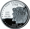 2000 - D New Hampshire State Quarter