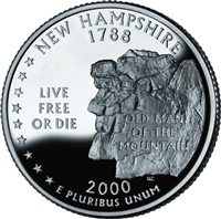 2000 - P New Hampshire State Quarter