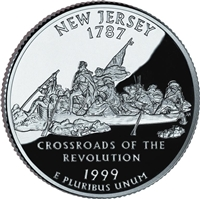 1999 - P New Jersey State Quarter