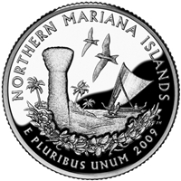 2009 - D Northern Mariana Islands - Roll of 40 - Territory Quarters