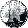 2001 - P New York State Quarter